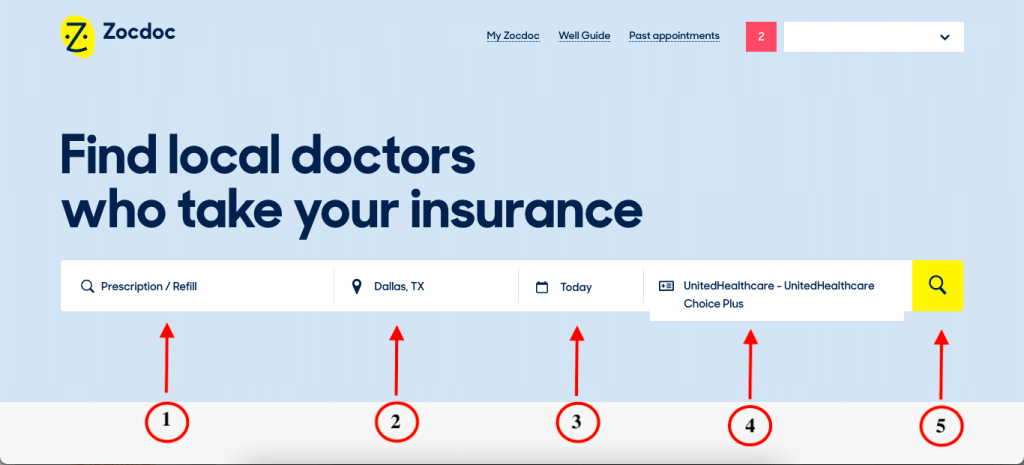 Getting a naltrexone prescription in Dallas, TX with United Healthcare Choice Plus using Zocdoc.