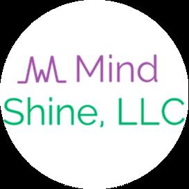 Mind Shine, LLC logo with a heartbeat cropped into a circular shape.