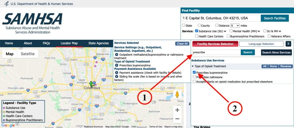 Find places that prescribe Suboxone using the SAMHSA Treatment Locator.